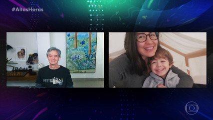 Serginho Groisman recebe recado especial do filho Thomas e da mulher, Fernanda