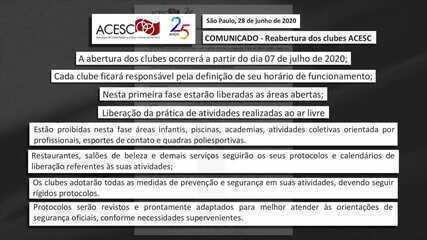 Apesar de liberação da prefeitura, clubes em São Paulo decidem reabrir dia 07 de julho