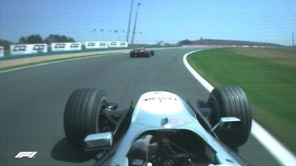 Coulthard fez gesto obsceno após ser fechado por Schumacher na França, em 2000