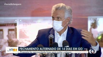 Governador Ronaldo Caiado pede apoio para fechamento do comércio por 14 dias em Goiás