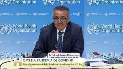 OMS vai mandar equipe à China para pesquisar origem do novo coronavírus