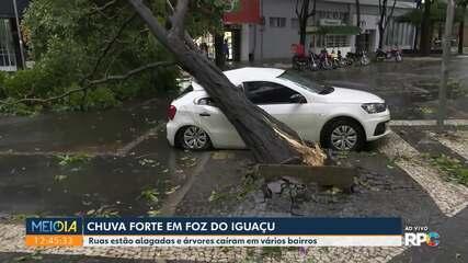 Chuva forte em Foz do Iguaçu