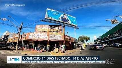 Prefeitura de Goiânia decreta fechamento alternado do comércio não essencial
