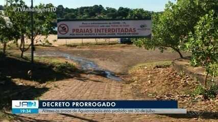 Acesso a praias de Aguiarnópolis fica suspenso até o dia 30 de julho