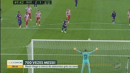 Messi chega à marca de 700 gols na carreira com pênalti de cavadinha