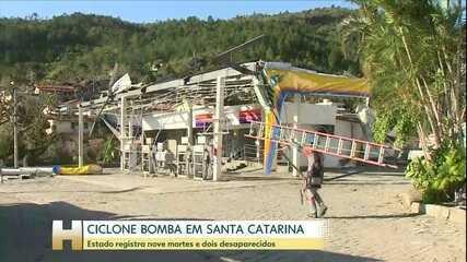 'Ciclone bomba': sobe para 10 o número de mortes no Sul do país