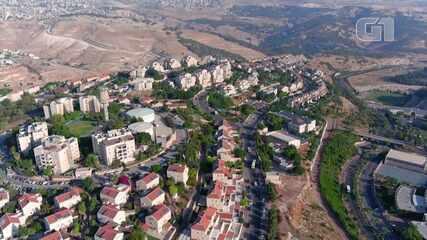 Drone passeia pelos assentamentos israelenses na Cisjordânia, antes da possível anexação