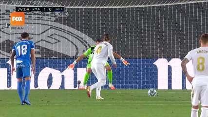 O gol de Real Madrid 1 x 0 Getafe pelo Campeonato Espanhol