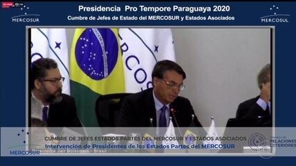 Bolsonaro diz que Mercosul é principal veículo de inserção do Brasil na região e no mundo