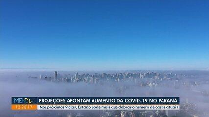 Projeções apontam aumento da Covid-19 no Paraná