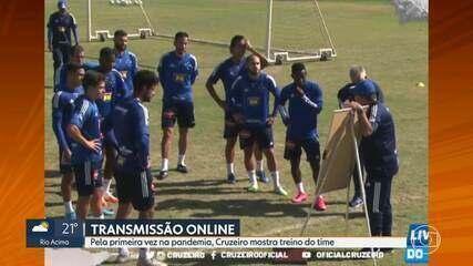 Cruzeiro transmite treino e mostra provável escalação do time do técnico Enderson Moreira
