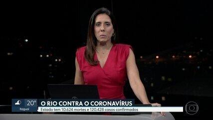 Estado do RJ registra mais 124 mortes por coronavírus