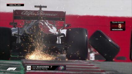 Após relargada, pneu se solta, e Raikkonen abandona o GP da Áustria