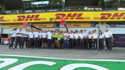 McLaren comemora terceiro lugar de Lando Norris na Áustria