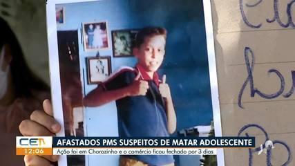 Policiais militares suspeitos de matar adolescente em Chorozinho são afastados