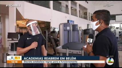 Academias de Belém retornam com as atividades nesta segunda-feira, 6