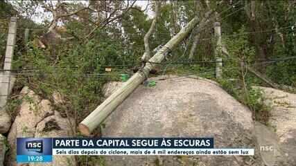 Uma semana após ciclone, mais de 4 mil imóveis ainda seguem sem energia na capital