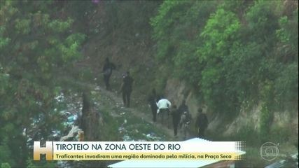 Traficantes invadem comunidades dominadas pela milícia no Rio; madrugada foi de tiroteio