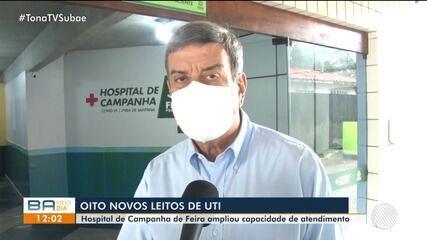 Hospital de campanha em Feira de Santana recebe oito novos leitos