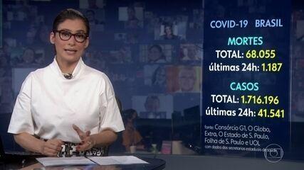 Brasil ultrapassa marca de 68 mil mortes por Covid-19