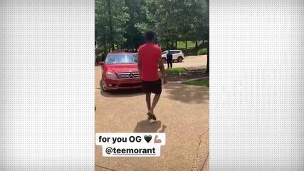 Ja Morant surpreende o pai com carro de presente