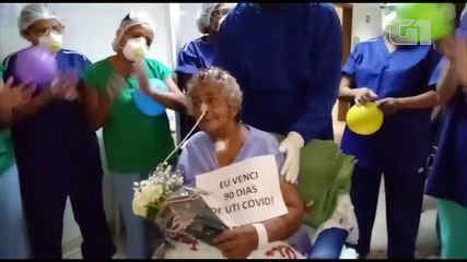 Luzia Angelita agradeceu os profissionais de saúde após receber alta da Covid-19 no MA