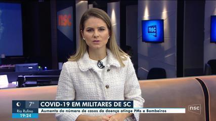 Forças de segurança de SC têm aumento do número de infectados por coronavírus