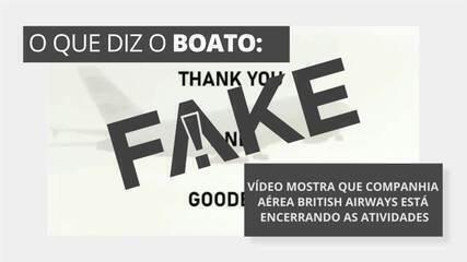 É #FAKE vídeo que diz que companhia aérea British Airways está encerrando as atividades