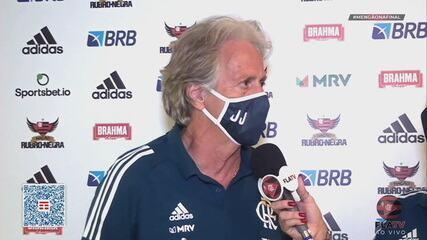 Jorge Jesus fala sobre vitória do Flamengo na primeira final do Carioca 2020