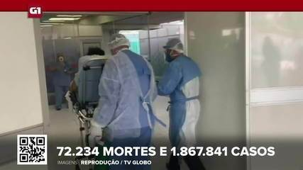 Brasil tem 72.234 mortes por Covid, aponta consórcio de veículos de imprensa