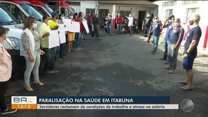 Profissionais da saúde fazem paralisação em Itabuna por melhorias e pagamento de salários
