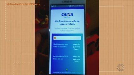 Beneficiários do Auxílio Emergencial têm dificuldades de acesso ao aplicativo da Caixa