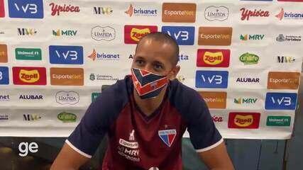 Derley fala sobre a sensação de marcar o primeiro gol pelo Fortaleza