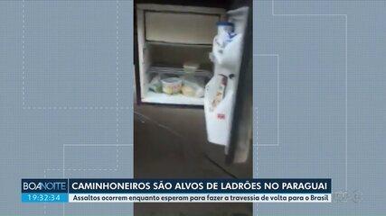 Caminhoneiros são alvos de ladrões no Paraguai