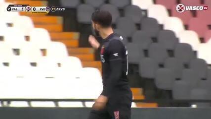 Confira o segundo gol do Vasco, em jogo-treino contra o Porto Velho, marcado por Andrey