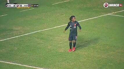 O gol de Lucas Santos, do Vasco, em jogo-treino contra o Porto Velho