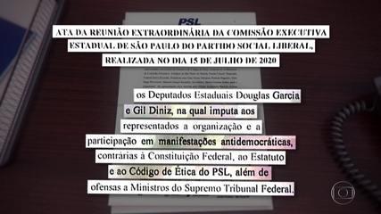 PSL expulsa os deputados estaduais Douglas Garcia e Gil Diniz