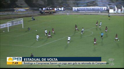 Botafogo-PB 0 x 0 Campinense, pela rodada #8 do Campeonato Paraibano