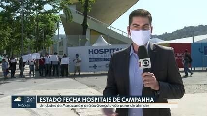 Dois hospitais de campanha do estado montados para a Covid-19 vão fechar