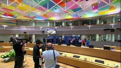 Líderes europeus tentam aprovar pacote de ajuda econômica