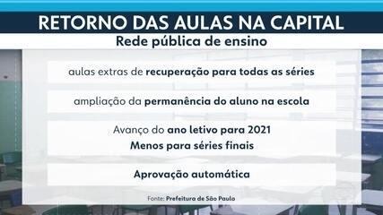 Prefeitura da capital define novas regras para retorno às aulas presenciais