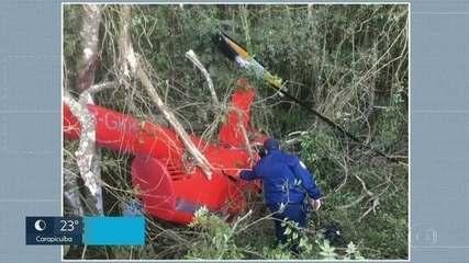 Helicóptero com drogas cai em Ibiúna