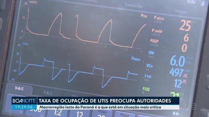 Taxa de ocupação de UTIs SUS para Covid-19 em Curitiba é de 90% nesta segunda-feira (20)