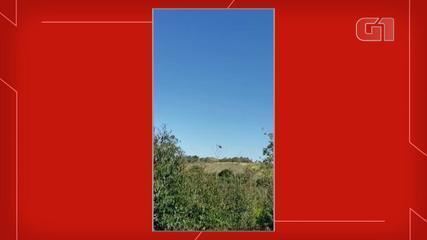 Vídeo mostra queda de helicóptero que transportava cocaína