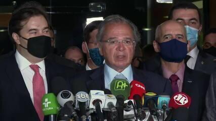 Guedes após entrega da reforma tributária: 'É a política que dita o ritmo das reformas'