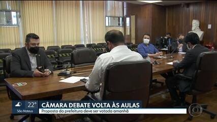 Câmara de Vereadores analisa projeto de lei para retorno das aulas na rede municipal