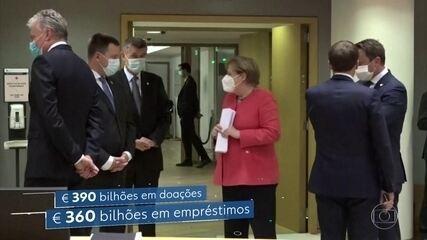 UE aprova ajuda de 750 bilhões de euros para países mais atingidos na pandemia