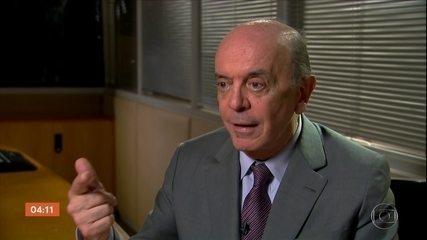 O senador José Serra volta ao objetivo da operação Lava Jato em SP