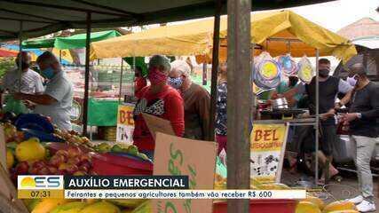 Câmara dos Deputados aprova auxílio emergencial para feirantes e pequenos agricultores