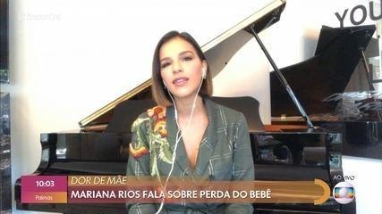 Mariana Rios agradece mensagens de fãs depois da perda de seu bebê